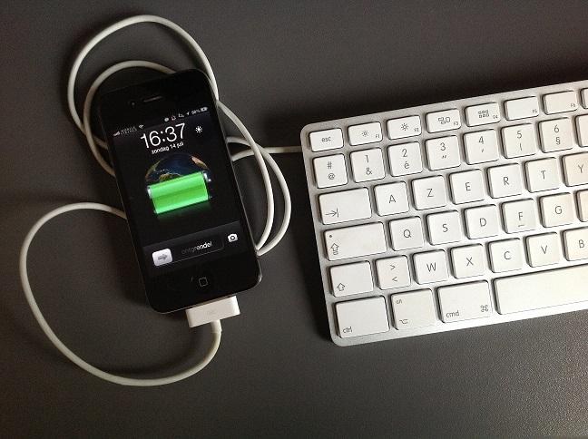 apple keyboard charging iphone
