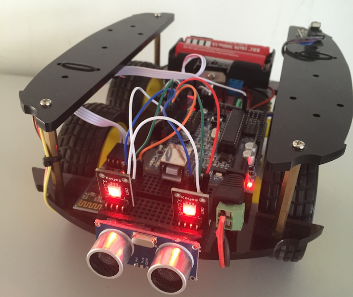 DIY Simple Arduino Bluetooth controlled Robot - Steven B