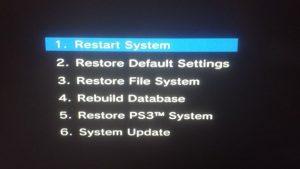 PS3 Service Menu