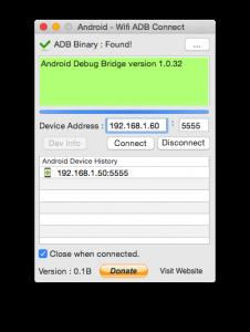 Android Wifi ADB Connect Tool Screenshot