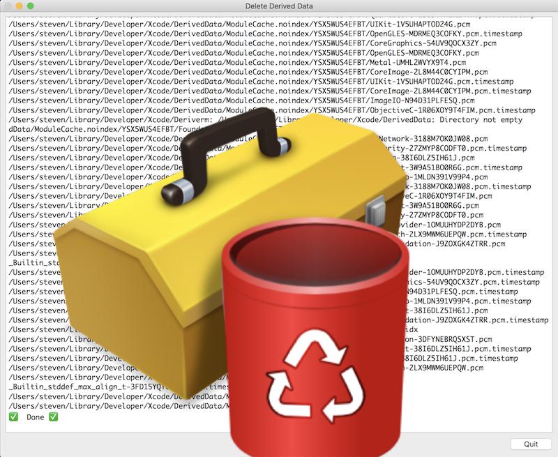 Delete Xcode Derived Data from Mac Spotlight - Steven B